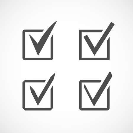 accepting: The chek mark icon web design.