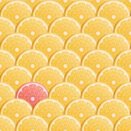 Summer seamless background with orange fruit. Vector illustration. Vetores