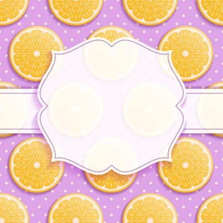 Orange seamless background with frame. Vector illustration. Ilustración de vector