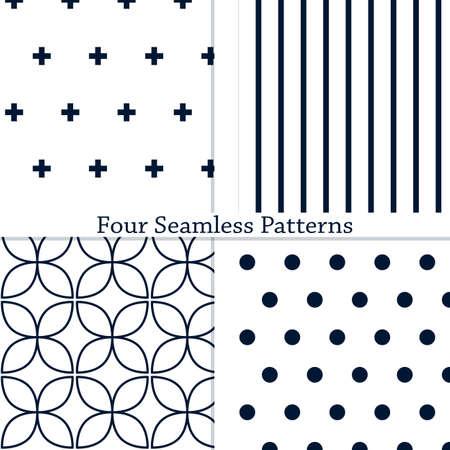 L'ensemble des modèles sans couture géométriques simples. Illustration vectorielle. Eps10