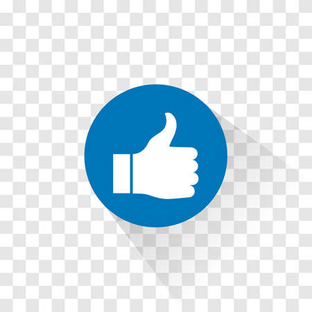 The thumbs up like icon. Vector illustration.