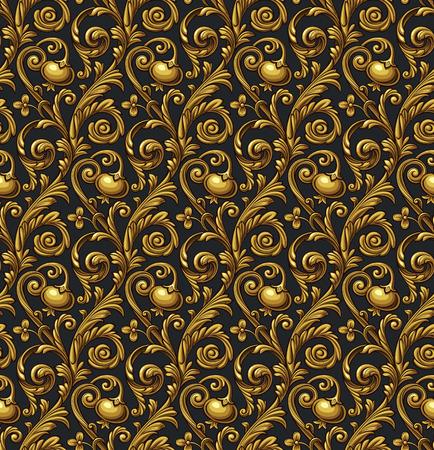 Vector nahtlose Blumenmuster mit Granatapfel Standard-Bild - 50523278