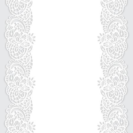 Vektor nahtlose Muster mit Blumenspitze Standard-Bild - 52469479