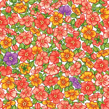 Vektor-Illustration. Nahtlose Blumenmuster Standard-Bild - 52469483