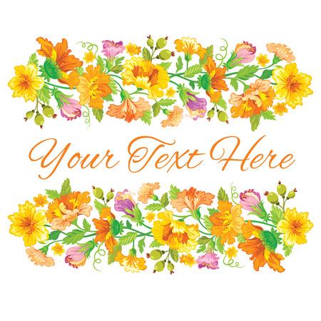 Template-Karte mit Frühjahr floralen Design Standard-Bild - 52469484