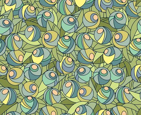 Vektor-Illustration. Abstrakte nahtlose Blumenmuster Standard-Bild - 52469570
