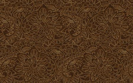 Vektor nahtlose Muster mit Blumenspitze Standard-Bild - 52469832