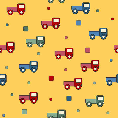 tile able: Sfondo di giocattoli camion senza soluzione di continuit� Vettoriali
