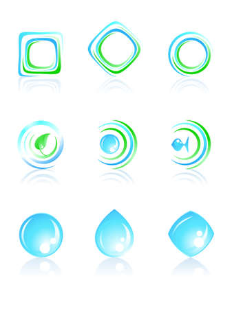 Nature logos. Vector illustration.