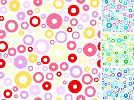 tile able: Anelli multicolori senza soluzione di continuit� astraggono backgrounds insieme. Illustrazione vettoriale.  Vettoriali