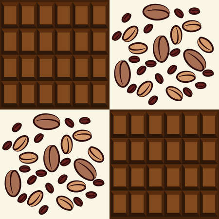 bitter fruit: Coffee and chocolate backgrounds set