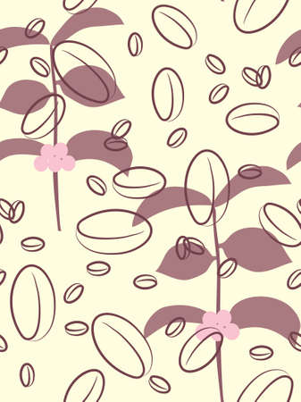Seamless coffee background. Vector illustration. Vector