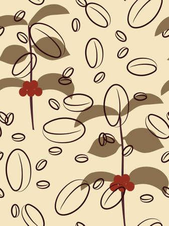 Seamless coffee background. Vector illustration. Illustration