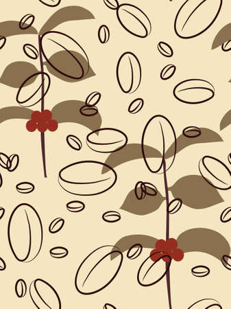plantation: Seamless coffee background. Vector illustration. Illustration