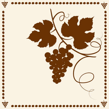 Grape vine frame.  Illustration