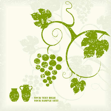 The grape vine background Stock Vector - 9429730