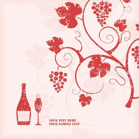 grape crop: The grape vine background. illustration.