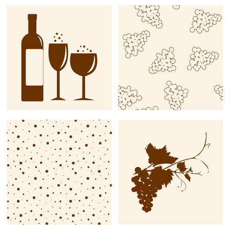 Winery design object silhouettes Stock Vector - 9429700