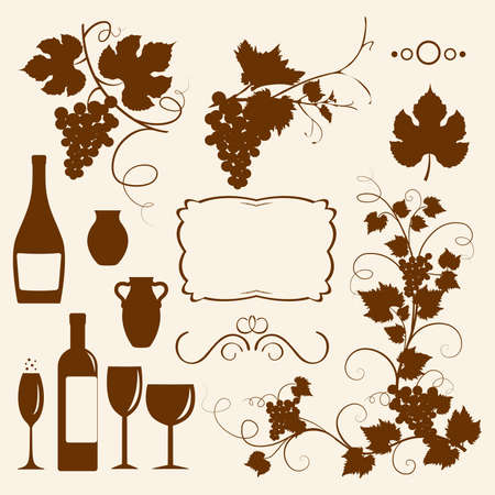 Winery design  Stock Vector - 9429696