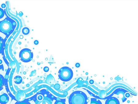 Abstract sea background Illustration