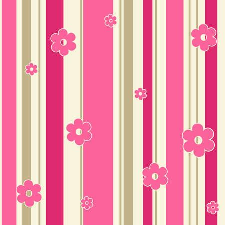 tile able: Sfondo ornato di fiori rosa senza soluzione di continuit�