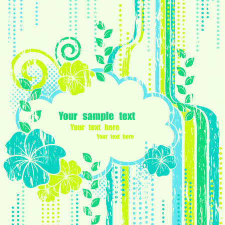 Abstract nature composition beautiful frame  Stock Vector - 9429735