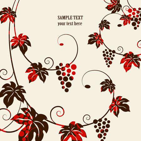 Grape vines background Illustration