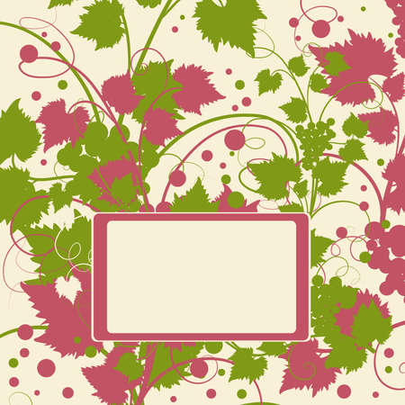 The grape background frame. Vector illustration. Stock Vector - 9423871