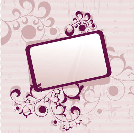 mirror frame: Ornate elements frame in grunge style.