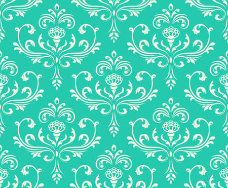 Classic seamless floral ornate background. Vector illustration. Vector