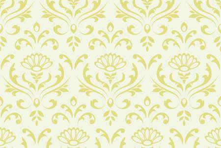tile able: Classico senza soluzione di continuit� floreale ornato sfondo. Illustrazione vettoriale. Vettoriali