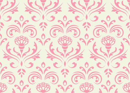 Classic seamless floral ornate background. Vector illustration.
