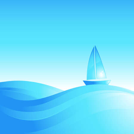 deportes nauticos: Barco sobre las olas del mar.