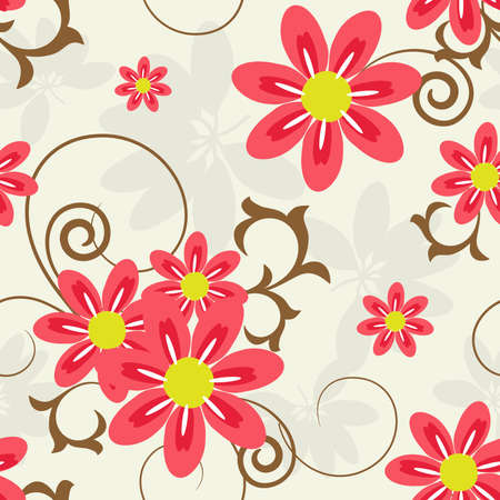 tile able: Abstract floral seamless background. Illustration