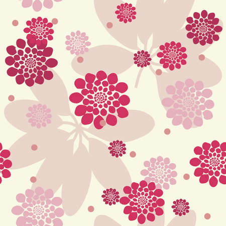 tile able: Seamless pink flowers background. Vector illustration.