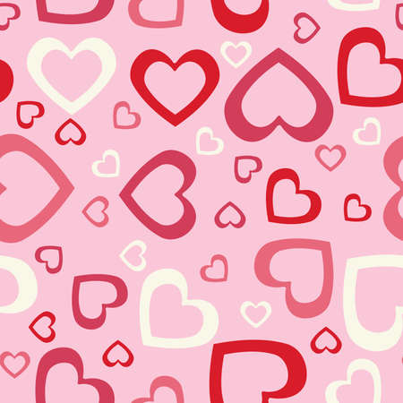 tile able: Abstract hearts seamless background.