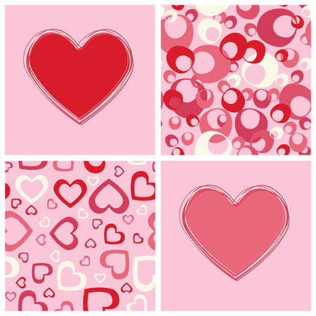 tile able: Seamless backgrounds and hearts design. Illustration
