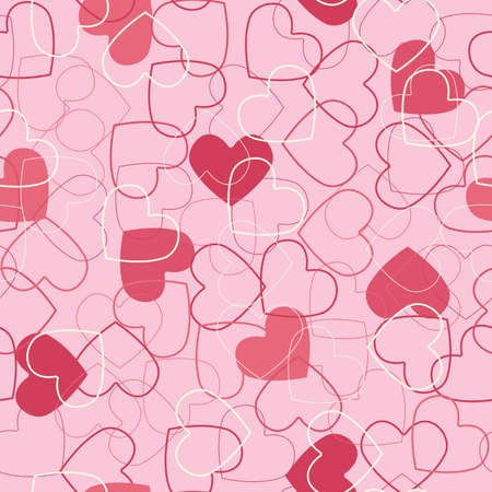 tile able: Seamless hearts background. Illustration
