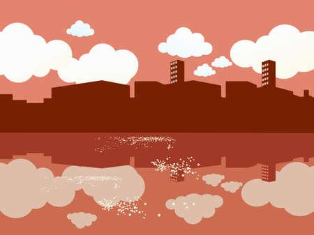 waterside: Cityscape waterside.