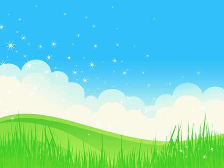 Vector illustration – summer field Stock Vector - 9322519