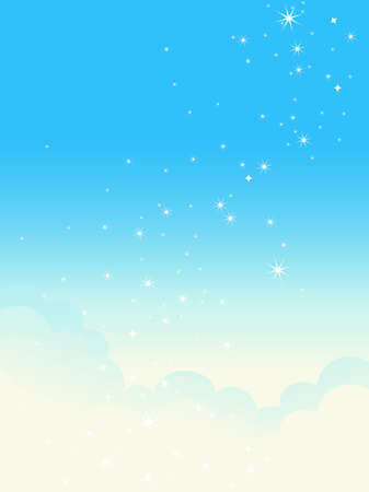 clean sky: Shiny cloudscape. Vector illustration.