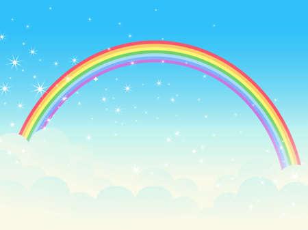 Shiny rainbow. Vector illustration. Vector