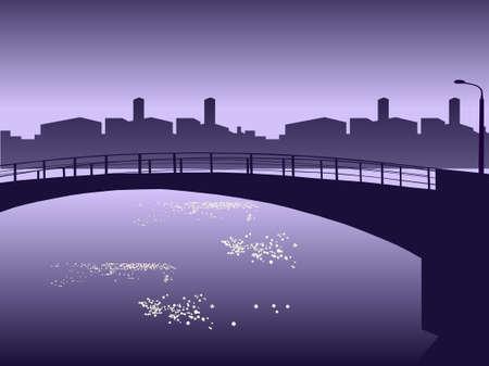 waterside: Vector illustration. Cityscape waterside. Illustration