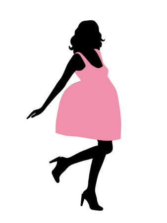 Glamour woman silhouette. Illustration