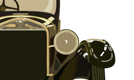 ford: Vintage auto de twintigste jaar van de vorige eeuw. Stock Illustratie