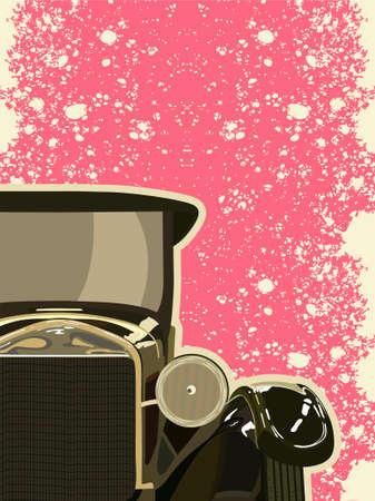 Vintage car the twentieth years of last century.