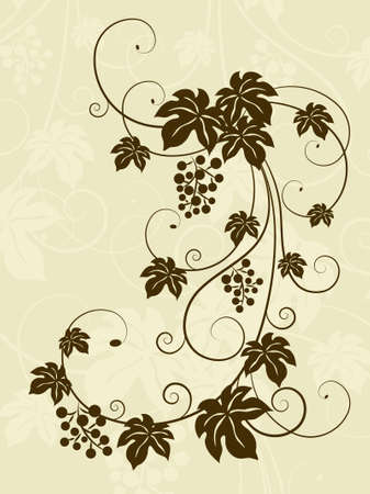 The grape background. Vector illustratio Stock Vector - 9322404