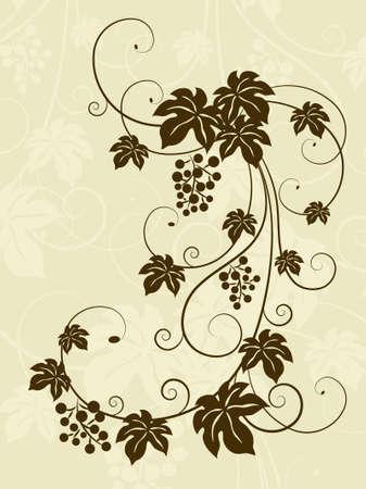The grape background. Vector illustratio