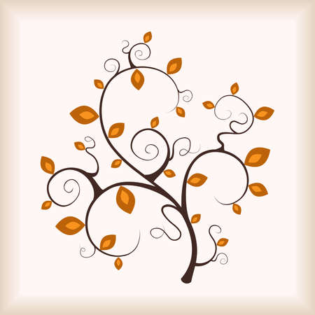 Elegance autumn tree. Vector illustration. Vector