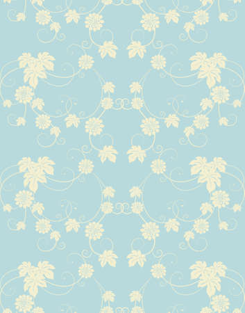 Seamless flowers  background. Vector illustration. Vector